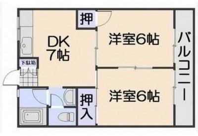 新原第5マンション の間取り