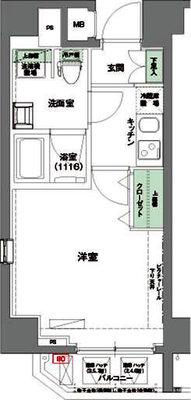 ハーモニーレジデンス東京イースト#002 の間取り