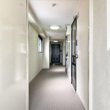共用廊下は室内できれいですよ。