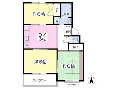 田口マンションパートⅢ の間取り