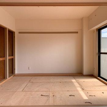 【和室】和室は畳を張り替え中です。※写真は工事中、クリーニング前のものです