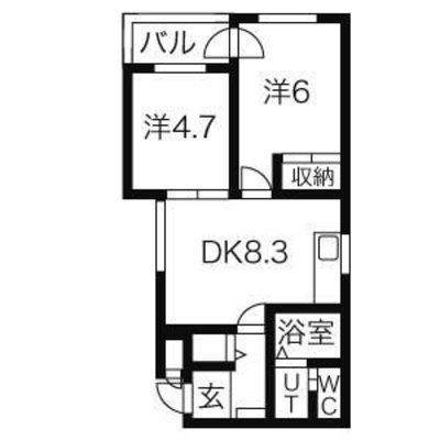 αNEXT札幌第14 の間取り