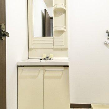 洗面台はベーシックなタイプ。