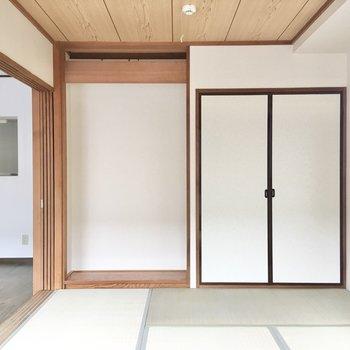 【和室】畳のお部屋はクッション性があるので、子供部屋にするのもオススメです。