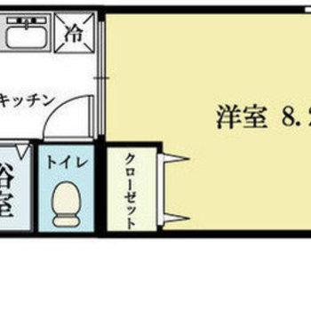 南向きのお部屋です。