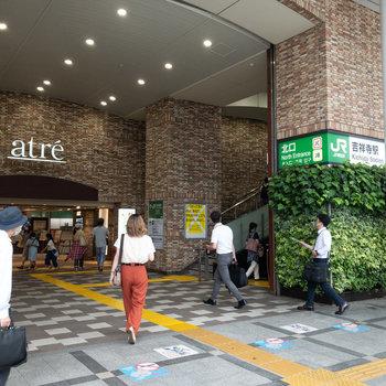 吉祥寺駅。北口が一番近い出口です。