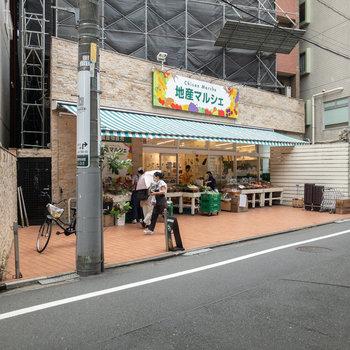 地方の食材が楽しめるスーパーもあります。