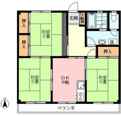 武蔵関アパート1号棟 の間取り