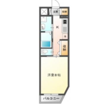 シンプルで使いやすそうないお部屋。1人暮らしにちょうどいいかな。