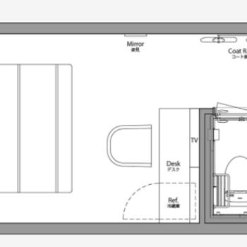 15平米のコンパクトなお部屋です。