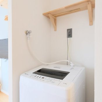 洗濯機はキッチンの横に◎