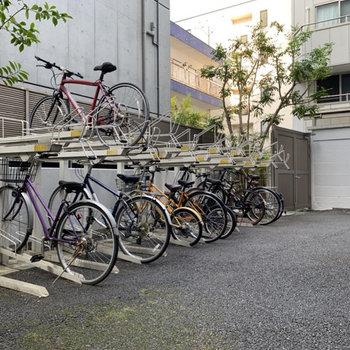 駐輪場付き。お出かけの幅が広がります。