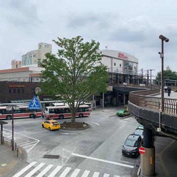 最寄りの三鷹駅南口。