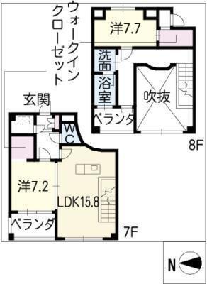 名古屋ASTONビル THE ASTON HOUSE の間取り