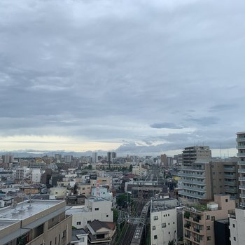 眺望〜!ほぼほぼ空という贅沢な眺め。