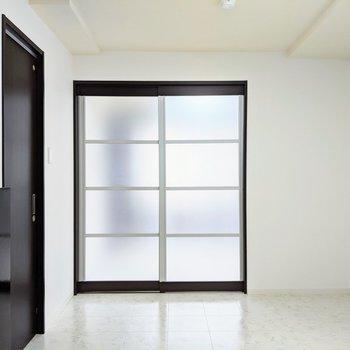 【LD】扉は半透明で丸見えにならず明かるさだけが見えるよ。