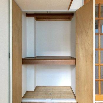 上下で分けて使えますね。※写真は3階の同間取り別部屋のものです