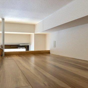 天井は大分低めでしゃがんで歩きます。奥にはコンセントもあります※写真は3階の同間取り別部屋のものです