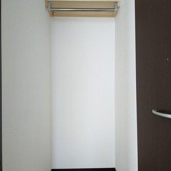 洋室には奥行きのあるクローゼットがあります。