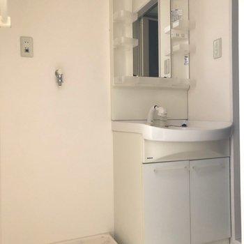 脱衣所です。独立洗面台でゆっくり身だしなみを整えられそう♪(※写真は3階の号間取り別部屋のものです)