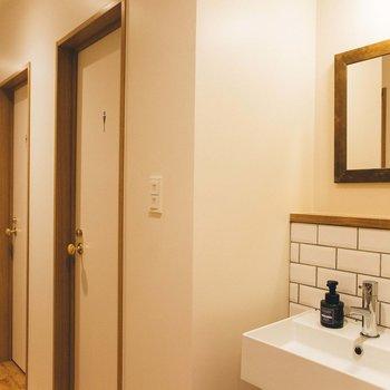 【共用部】バス・トイレは共用です。