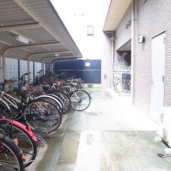 【共用部】自転車置き場はなかなかの広さ。もうひとつスペースがあります。