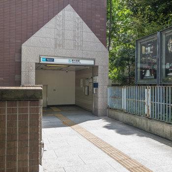 東大前駅の入口です。出口1がお部屋に一番近いですよ。