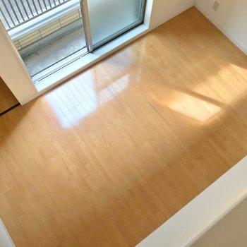 見下ろすとこんな感じ。家具の配置を考えるのも楽しいです。