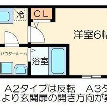 ひとり暮らし向けの間取りです。 ※今回のお部屋に小窓はありません