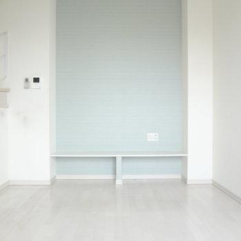 このクロスがあるだけでお部屋っが爽やかに。