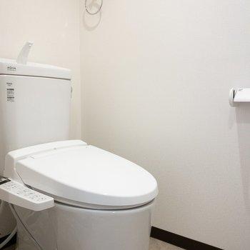 新品のトイレで気持ちも新たに!