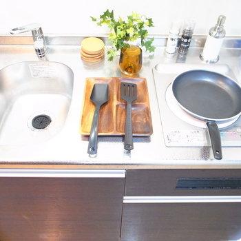 調理スペースが確保されているので、お料理も手際よくいきそう!