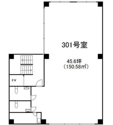渋谷 18.7坪 オフィス の間取り