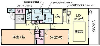 BELISTA神戸旧居留地の間取り