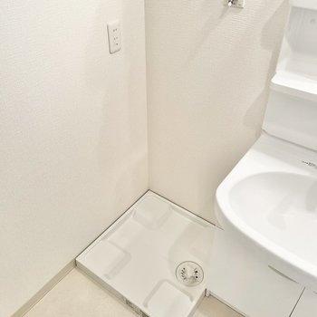 洗面台のお隣に洗濯機置き場。