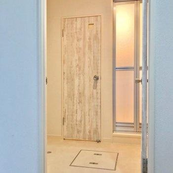 脱衣所は廊下側の洋室の向かいに。結構ゆったりしています。