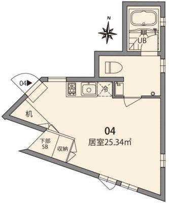 東新宿TERRACE E棟の間取り