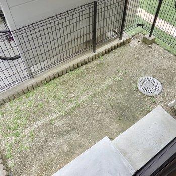 1階の外には専用庭。ちょっとしたガーデニングが楽しめそう!