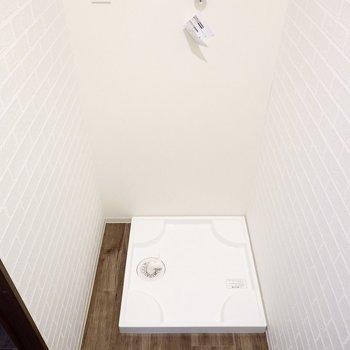 なんと洗濯機置場が隠れています。このお部屋、隠し上手ですね。