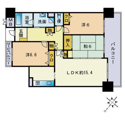 西福岡マリナタウンウェーブコースト7番館の間取り