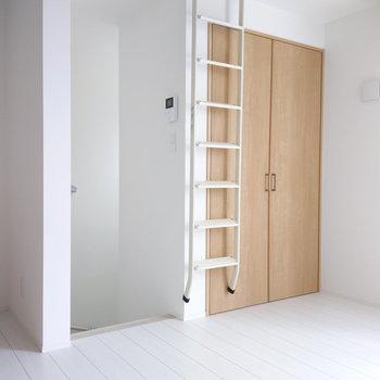 梯子もきれいに収納できていますね。