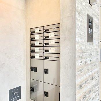 メールボックス&宅配ボックスもありますよ。