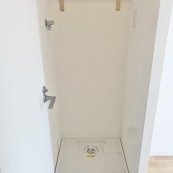 脱衣所の前に洗濯機が置けて動線もいいですね。
