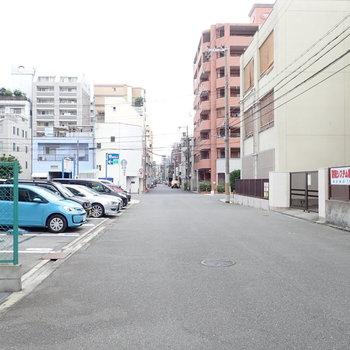 周辺環境】道路が広く、車はあまり通らなかったです。