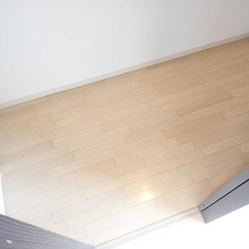 ハンガーラックにはお洋服をたっぷり、床にはボックスを置いてたくさん収納しちゃいましょ!