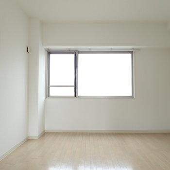 洋室には柔らかい光の入る窓があります。