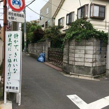 お部屋の周辺は閑静な住宅街。渋谷駅の喧騒と対照的に、静かで落ち着いた雰囲気。