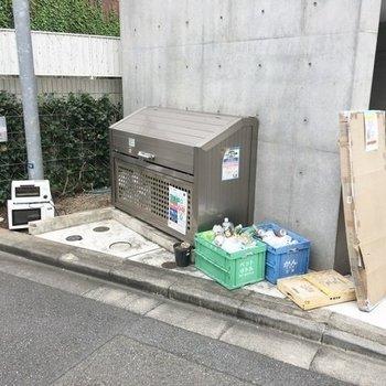 ゴミ置き場も設置済です。
