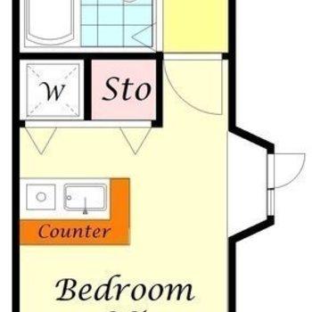 南東向きのお部屋。