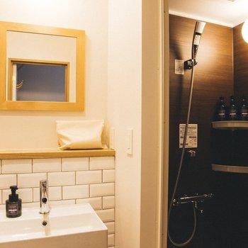 こちらのお部屋は室内にシャワールームがあります。